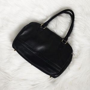 Tignanello black leather purse bag medium size